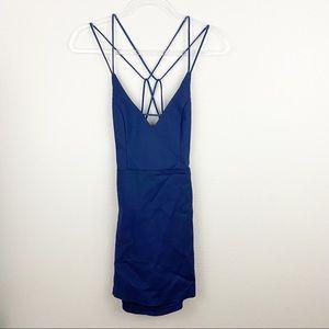 Superdown • Blue Strappy Dress